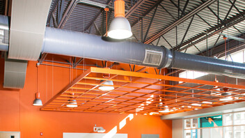 Rockfon® CurvGrid™ One-directional Curved Ceiling System